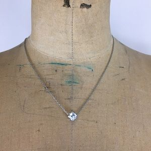 Juicy Couture Crystal Pendant Silver Necklace